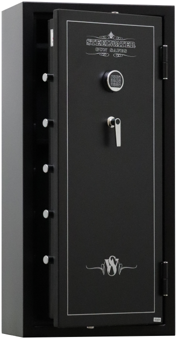 "New and Improved Steelwater Standard Duty EGS5928 - Free Door Organizer Included, Upgraded to 1 Hour Fireproof, Larger 1.5"" Locking Bolts, Automatic LED Interior Lighting Included"