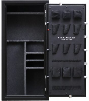 """New and Improved Steelwater Heavy Duty SW592818 - Free Door Organizer Included, Upgraded to 1 Hour Fireproof, Larger 1.5"""" Locking Bolts, Automatic LED Interior Lighting Included"""